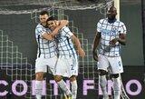 """Pergalę iškovojęs """"Inter"""" laikinai tapo """"Serie A"""" lygos lyderiu"""