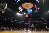 """Sudėtingas dominavusio L.Jameso tritaškis įtvirtino """"Lakers"""" pergalę"""