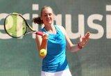 P.Bakaitė su partnere išplėšė dramatišką pergalę ir kovos dėl pirmo karjeroje moterų teniso turnyro titulo