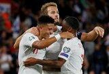 8 įvarčių fiesta baigėsi Anglijos pergale, A.Griezmanno nerealizuotas baudinys nesutrukdė prancūzams nugalėti Andoros