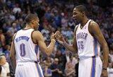 """K.Durantas ir R.Westbrookas kartu pelnė 78 taškus ir atvedė """"Thunder"""" ekipą į pergalę   (visi rezultatai)"""