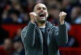 """P.Guardiola po triumfo """"Premier"""" lygoje trokšta sukurti istoriją ir iškovoti visus tris trofėjus Anglijoje"""