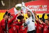 """Įspūdinga: dviejų įvarčių deficitą panaikinęs ir baudinių serijoje triumfavęs """"Panevėžys"""" iškovojo LFF Supertaurę"""