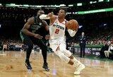 """Įspūdingai žaidęs R.Westbrookas padėjo """"Rockets"""" laimėti po pratęsimo"""