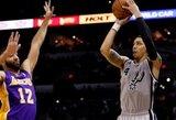 """Vakarų konferencijos lyderiai sutriuškino """"Lakers"""" ekipa ir iškovojo devintąją pergalę iš eilės"""