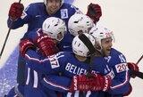 Prancūzai pasaulio ledo ritulio čempionato starte patiesė kanadiečius, rusai sutriuškino šveicarus