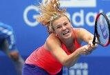20-metė čekė įveikė pripažintas moterų teniso žvaigždes ir pirmą kartą triumfavo WTA turnyre