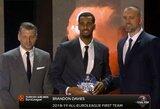 B.Daviesas atsiėmė Eurolygos apdovanojimą, turnyro MVP pripažintas J.Vesely