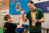 Pirmą kartą surengtame Lietuvos mokyklų 3x3 čempionate triumfavo D.Pakamanio sūnaus komanda