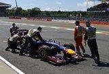 S.Vettelis lenktynių nebaigė dėl pavarų dėžės gedimo