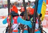Ukrainietės ir norvegai šventė pergalės pasaulio biatlono taurės estafetės varžybose