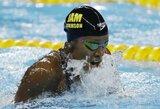 Pasaulio plaukimo taurės etape A.Atkinson vėl pamokė J.Jefimovą