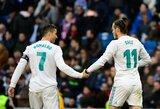 """G.Bale'as parašė atsisveikinimo žinutę C.Ronaldo, velsietį į savo gretas vilioja """"Man United"""""""
