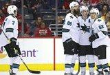 """Po dviejų greitų įvarčių atsitiesusi """"Sharks"""" išsivežė pergalę iš Floridos"""
