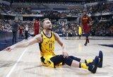 """D.Sabonis dėl traumos praleido pergalingas """"Pacers"""" rungtynes"""