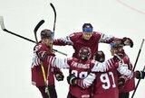 Latvijos ledo ritulio rinktinė patiesė olimpinius vicečempionus, švedai netikėtai prarado pirmąjį tašką