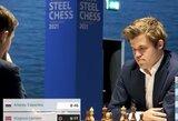 Staigmena: 18-metis rusas tapo jauniausiu žaidėju, nugalėjusiu M.Carlseną klasikinėje partijoje