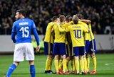 Švedija nugalėjo italus ir žengė pirmą žingsnį pasaulio čempionato link