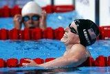 16-metė JAV plaukikė K.Ledecky tapo naujo pasaulio rekordo autore