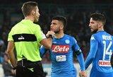 """Dovana Italijos lyderiams: """"Napoli"""" barstė taškus prieš vidutiniokus, """"Lazio"""" pelnė net 6 įvarčius"""