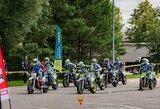 """Tauragės gatves pirmą kartą drebino motociklų """"Supermoto"""" čempionato etapas: lietuvių klaidoms naudojosi svečiai iš užsienio"""