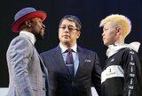 F.Mayweatheris ir T.Nasukawa prieš kovą paskutinį kartą susitiko akis į akį, A.Berto perspėjo amerikietį