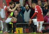 """""""Manchester United"""" klubas džiaugėsi pergale, G.Arlauskio ekipa pralaimėjo"""