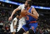 NBA suspendavo J.Noah 20 rungtynių