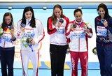 J.Jefimovos nesėkme pasinaudojusi 18-metė japonė istoriniame plaukime tapo pasaulio čempione (+ visi prizininkai)