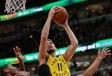 """D.Sabonis su """"Pacers"""" išsivežė dramatišką pergalę iš Čikagos"""