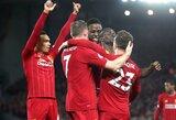 """Įspūdingą žygį tęsiantis """"Liverpool"""" užfiksavo naują klubo rekordą"""