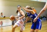 Merginų jaunimo krepšinio rinktinės pralaimėjo latvėms