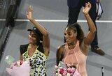 Seserų Williams dvikova Abu Dabyje baigėsi Venus pergale, vyrų turnyre paaiškėjo pusfinalio poros