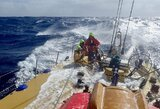 """Štormo metu Ramiajame vandenyne nuo jachtos """"Ambersail"""" denio nuplautas žmogus išgelbėtas ir sveikas"""