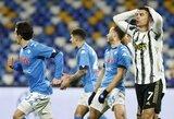 """Progų neišnaudojęs """"Juventus"""" neatsilaikė prieš """"Napoli"""" futbolininkus"""
