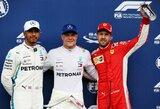 """V.Bottas pirmą kartą šiemet iškovojo """"pole"""" poziciją"""