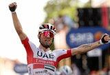 """D.Ulissi laimėjo antrąjį """"Giro d'Italia"""" etapą, I.Konovalovas oficialiame puslapyje ir toliau vadinamas latviu"""