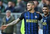 """M.Icardi bendru sutarimu paliko """"Inter"""" treniruočių stovyklą Šveicarijoje"""