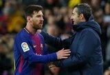 """E.Valverde negailėjo liaupsių L.Messi: """"Jis visada pasirodo tada, kai mums labiausiai jo reikia"""""""