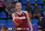 Absurdas merginų krepšinyje: rusės įmetė tritaškį į savo krepšį