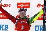 Pasaulio biatlono taurės etapas Slovėnijoje baigėsi D.Domračevos pergale