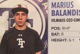 M.Balandis beisbolo aukštumų sieks JAV