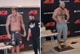 A.Jemeljanenka buvo 22,5 kg sunkesnis už M.Ismailovą