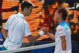 """Įspūdingai kamuoliuką padavinėjęs N.Djokovičius be vargo prasibrovė į """"Australian Open"""" aštuntfinalį"""