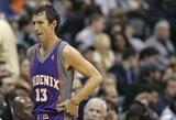 """S.Nashas prisiminė gėdingą bandymą prisivilioti K.Garnettą į """"Suns"""""""