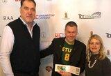 Šiaurės Amerikos lietuviai vasario 16-ąją paminėjo krepšinio aikštėje ir susitiko su A.Saboniu