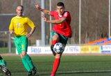 Kontrolinėse rungtynėse Lietuvos U-19 futbolo rinktinė iškovojo lygiąsias su Ukraina