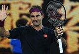 Pasakiškai žaidęs R.Federeris priartėjo prie jubiliejinės pergalės