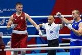 Sunkiasvoris boksininkas M.Valavičius Europos žaidynėse pralaimėjo serbui