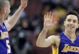 """Komandiškai žaidusi """"Lakers"""" išsivežė pergalę iš Filadelfijos"""